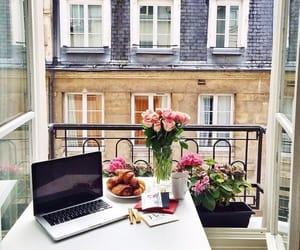 flowers, paris, and breakfast image