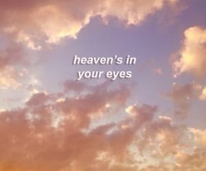 quotes, eyes, and clouds image