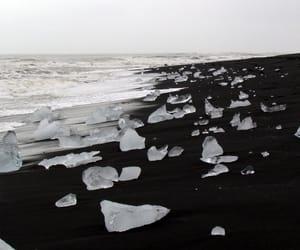 ice, black, and sea image