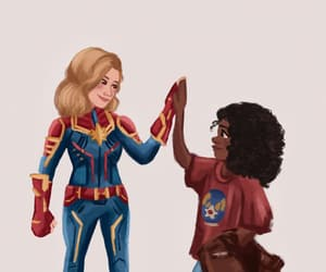 drawing, brie larson, and captain marvel image