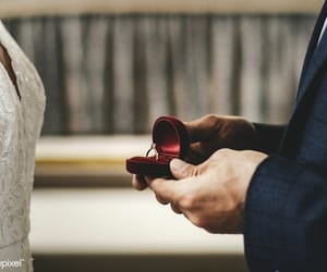 couples, ring, and wedding image