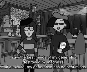 Daria, quotes, and black and white image