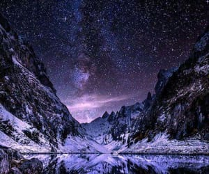 stars, mountains, and night image