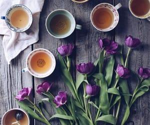 cups, purple, and tea image