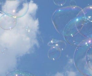 blue, bubbles, and sky image