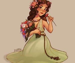 flowers, my art, and greek mythology image