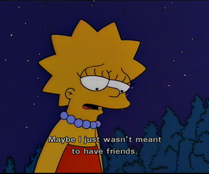 alone, lisa simpson, and no friends image