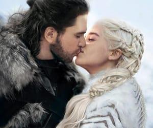 jon snow, daenerys targaryen, and got image