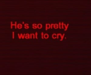 red, crush, and cry image