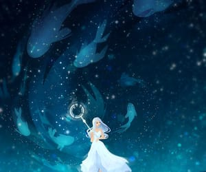 illustration, ocean, and my art image
