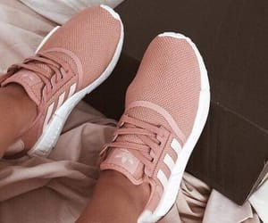 adidas, baby pink, and girl image