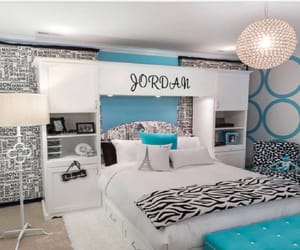 bedroom, blue, and pretty image