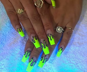 nails, flame, and green image