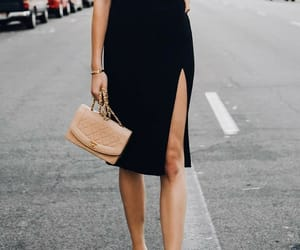 black, dress, and minidress image