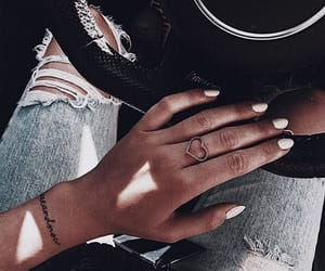 denim, jewelry, and nails image