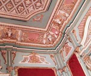 red, architecture, and interior design image