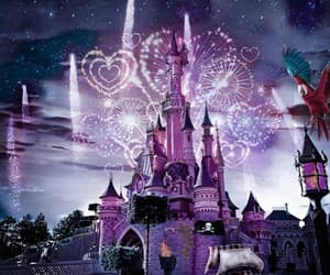 castle, disney, and disney princess image