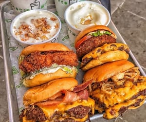 burger, cheese, and Chicken image