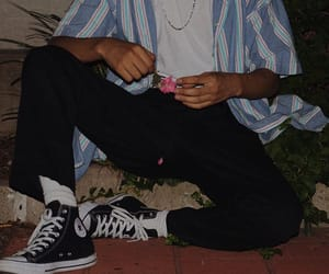 boy, flower, and converse image
