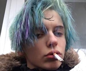 boy, daotvali, and cigarette image