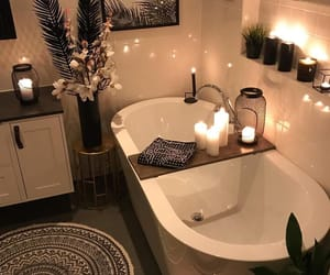 bathroom, house, and bath image