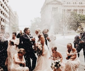 bridesmaids and wedding image