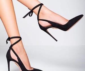 black, aquazzura, and heels image