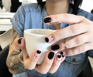 black, bracelet, and nails image