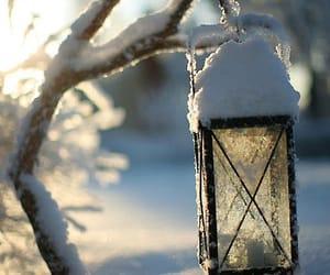 snow, winter, and lantern image