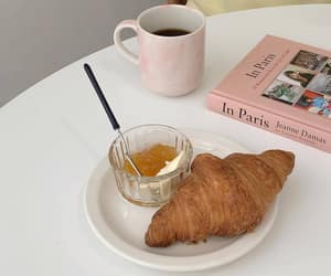 aesthetic, cafe, and croissants image