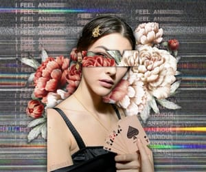 artsy, flowers, and kaia gerber image