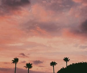 sky, beach, and pink image