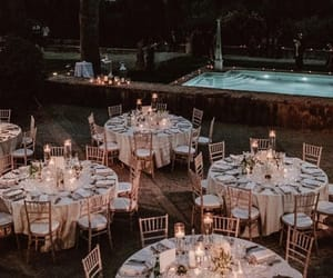 banquet, wanderlust, and wedding image