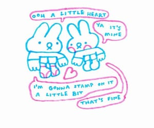 bunny, drawing, and quote image