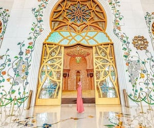 abu dhabi, colourful, and mosque image