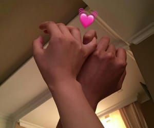 couple, cute couple, and hands image