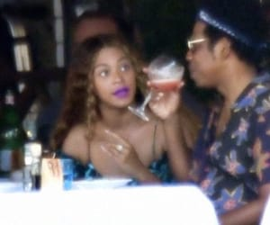 jay z, reaction, and beyoncé image