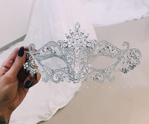 mask, diamond, and luxury image