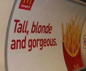 McDonalds, blonde, and food image