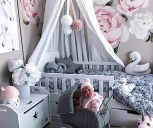 adorable, baby room, and decor image