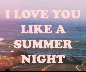 summer, love, and night image