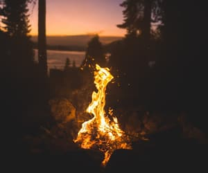 camp, love, and fire image