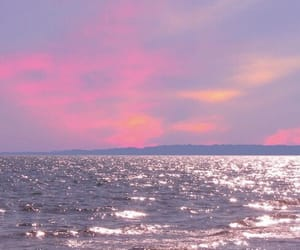 pink, background, and ocean image