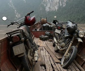 adventure, explore, and motorcycle image