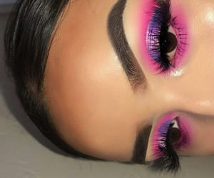 eyeshadow, makeup, and purple image
