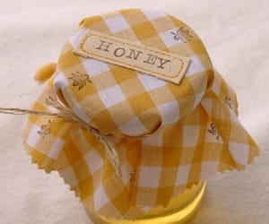 honey, yellow, and bee image