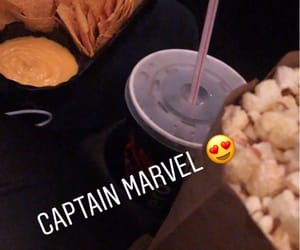 popcorn and captain marvel image