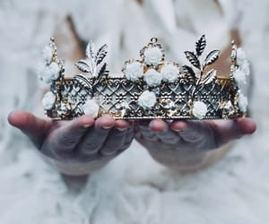 crown, princess, and gold image