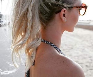 adorable, blonde, and braids image