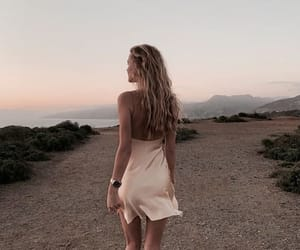 dress, style, and sunset image